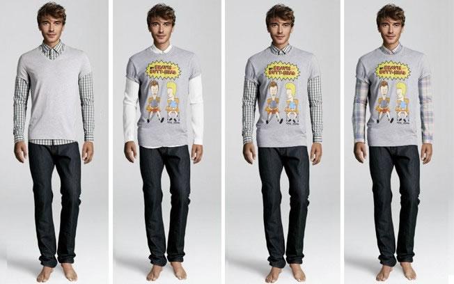 Como usar malha de manga comprida com t-shirt: com camisa de alfaiataria em vez de malha (Foto: Divulgação/H&M)