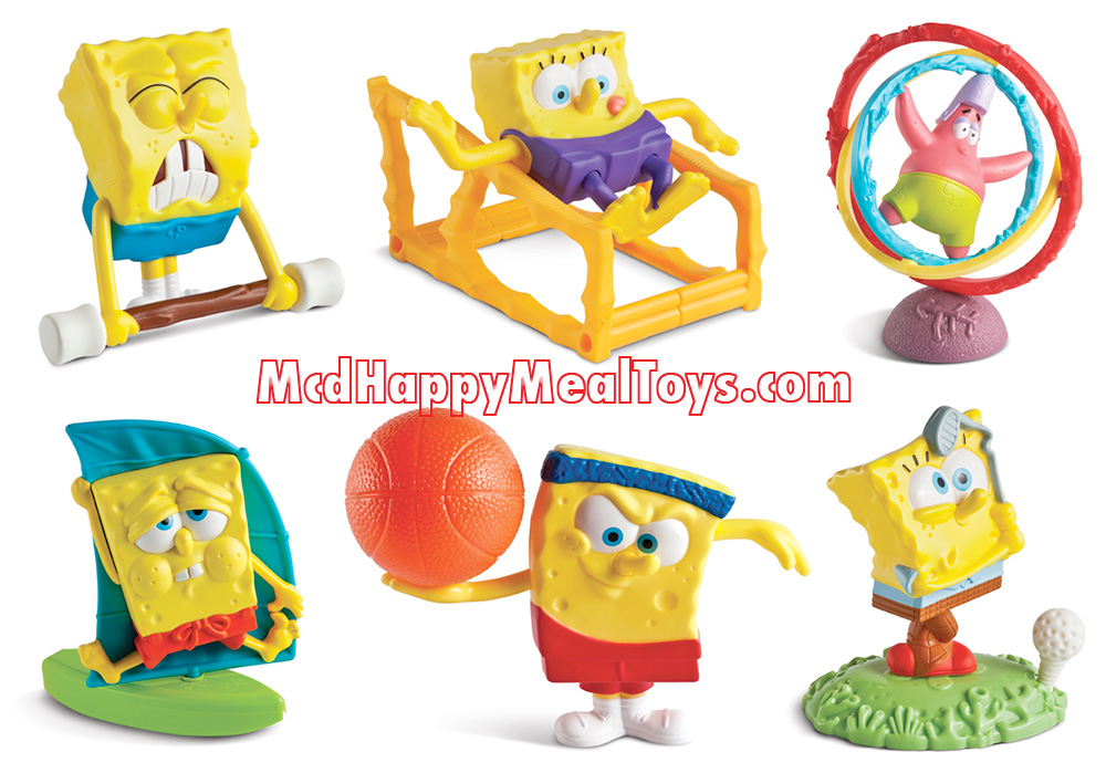 Spongebob squarepants toys happy meal toys for Happy playsets