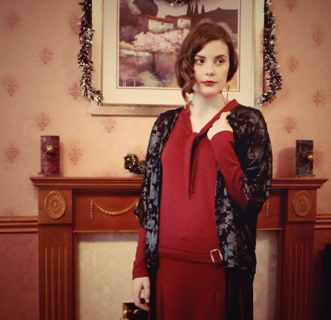 downton abbey inspired christmas outfit