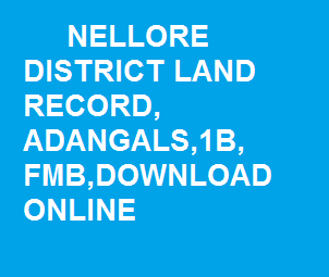 Nellore_district_land_records_Adangal,1B,FMB,Download,online