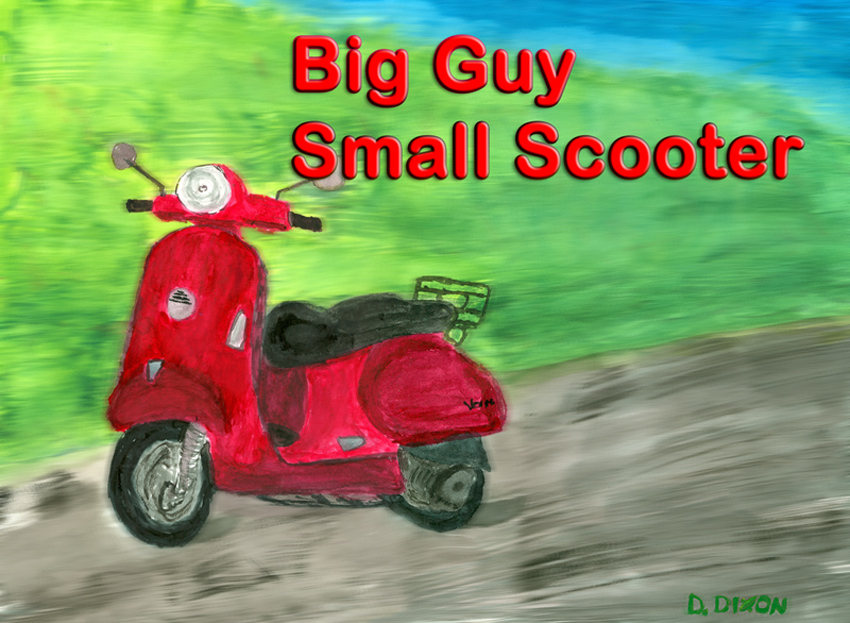 Big Guy Small Scooter