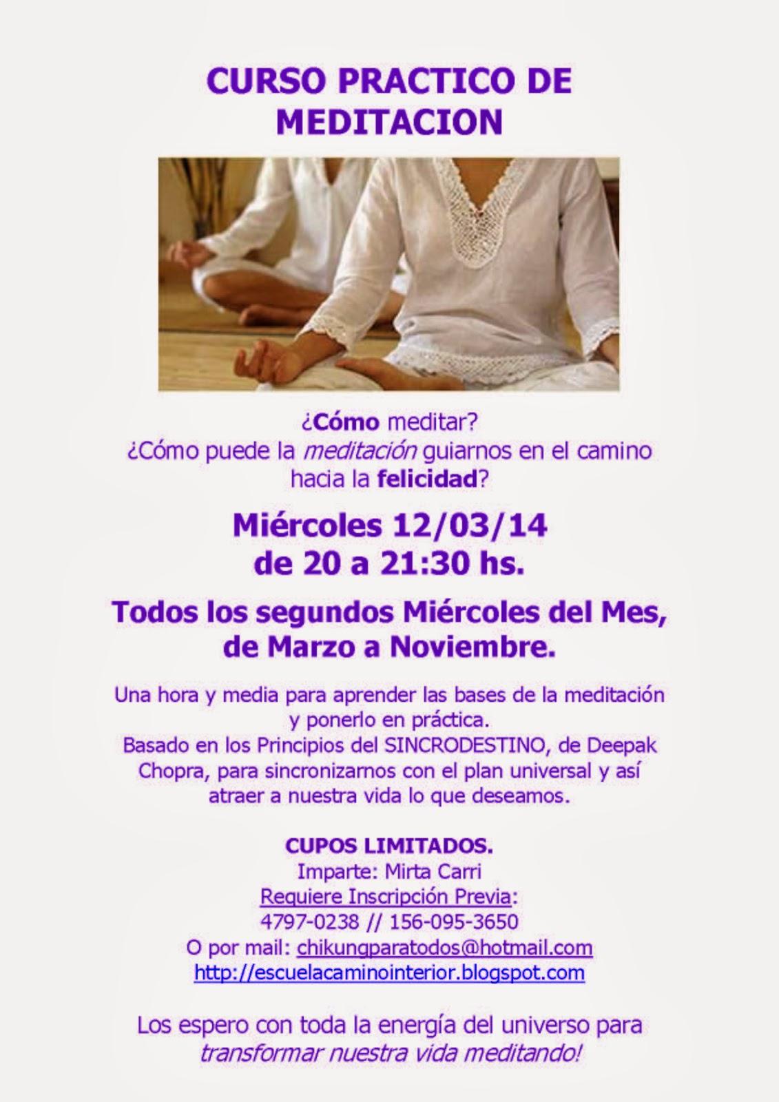 Curso Practico de Meditacion - Escuela Camino Interior