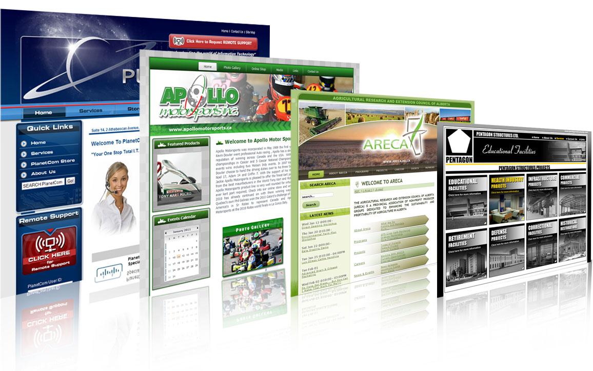 Páginas do Site