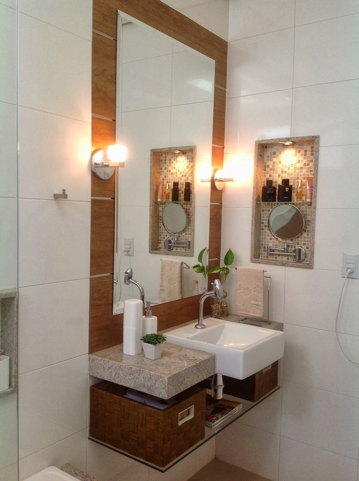 Meu Palácio de 64m²: Cuba semi encaixe Ocean Pacific Incepa #A25829 1195x1600 Banheiro Acessivel Medidas Minimas