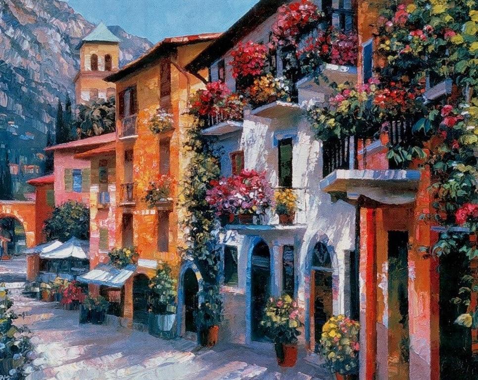 Cuadros modernos pinturas y dibujos cuadros de paisajes for Cuadros al oleo modernos