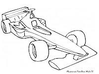 Mewarnai Gambar Mobil Balap Formula Satu