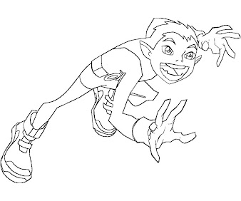 #11 Beast Boy Coloring Page