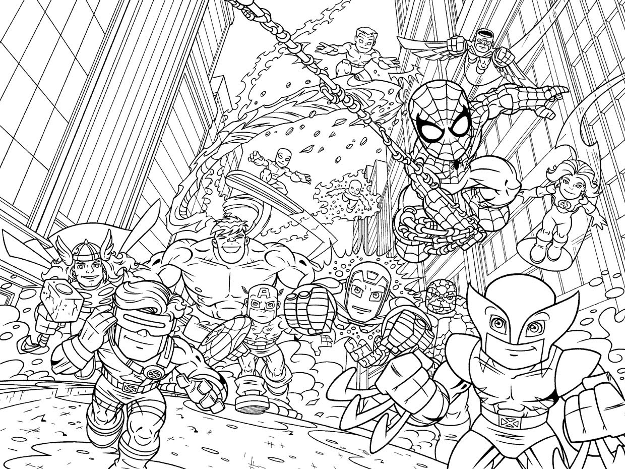 marvel superheroes coloring pages - photo#5