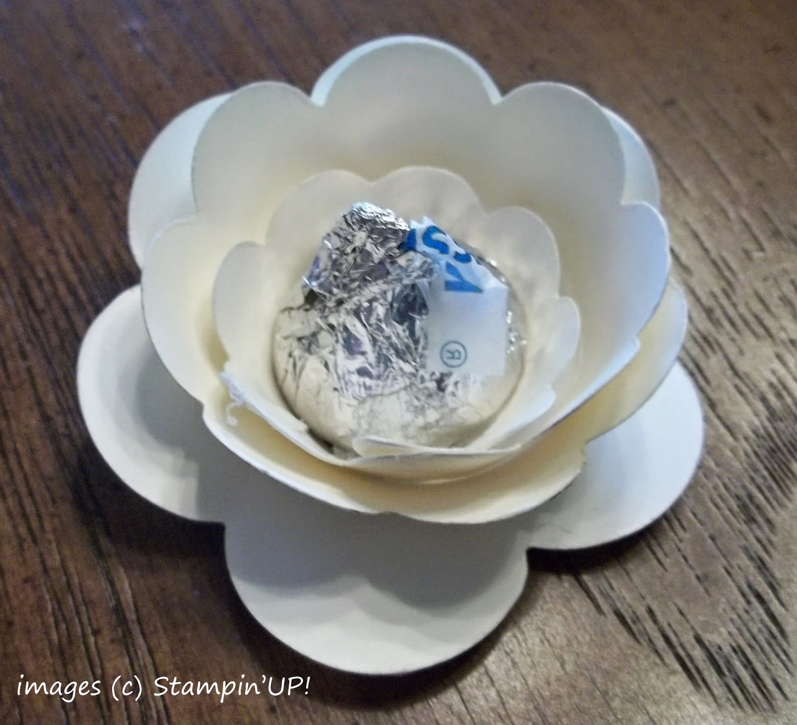 Table Favor made with Stampin'UP!'s Spiral Flower Die