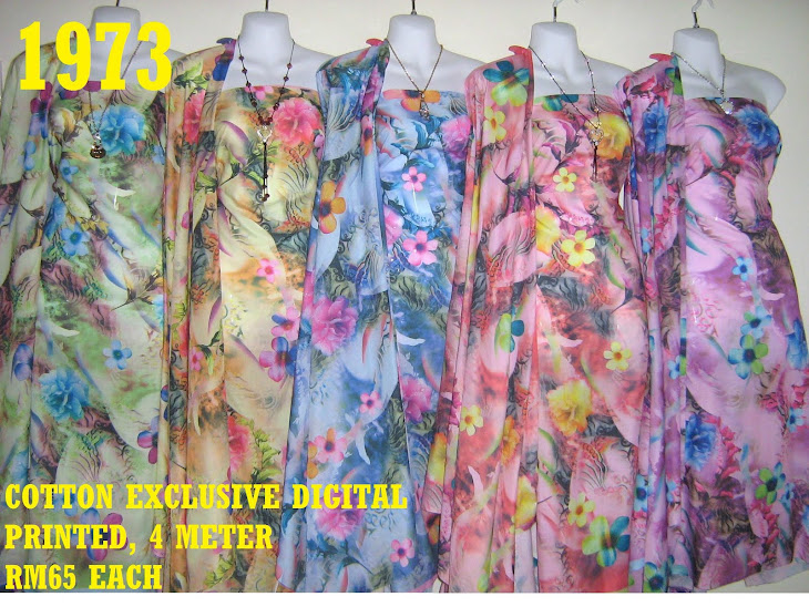 CDP 1973: COTTON EXCLUSIVE DIGITAL PRINTED, 4 METER, 5 COLORS