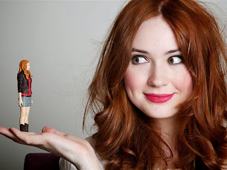 Amy Pond de Doctor Who - foto graciosa de Karen Gillan