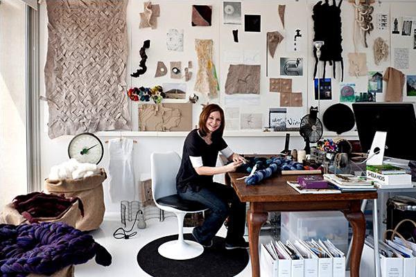 diseño textil con fieltro y lana Dana Barnes wool design