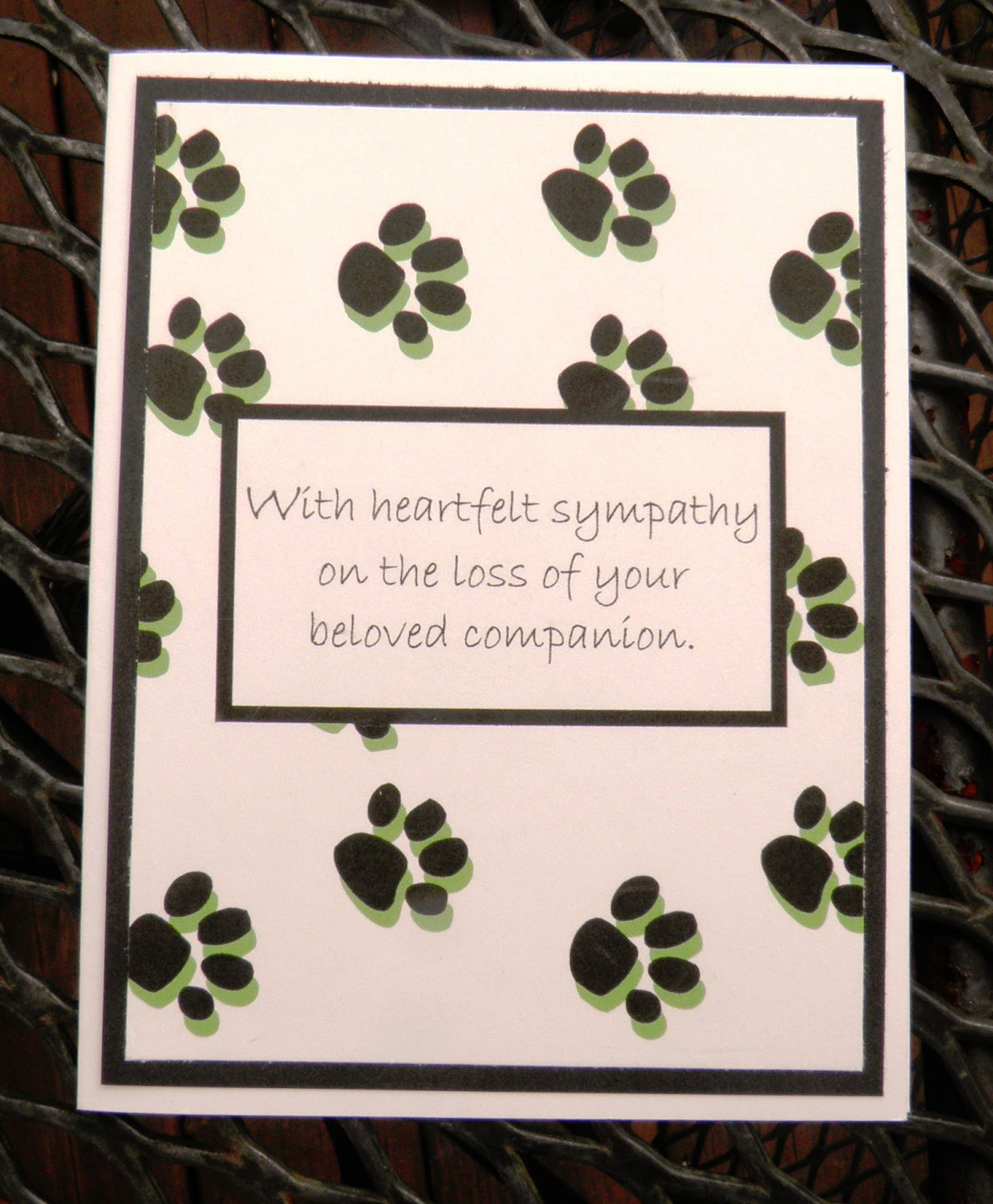 Refreshing image inside free printable pet sympathy cards