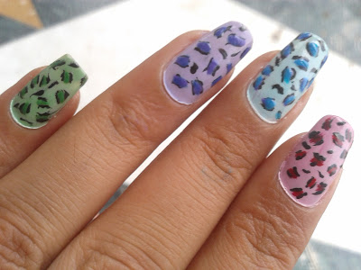 leopard nails by pari sangha