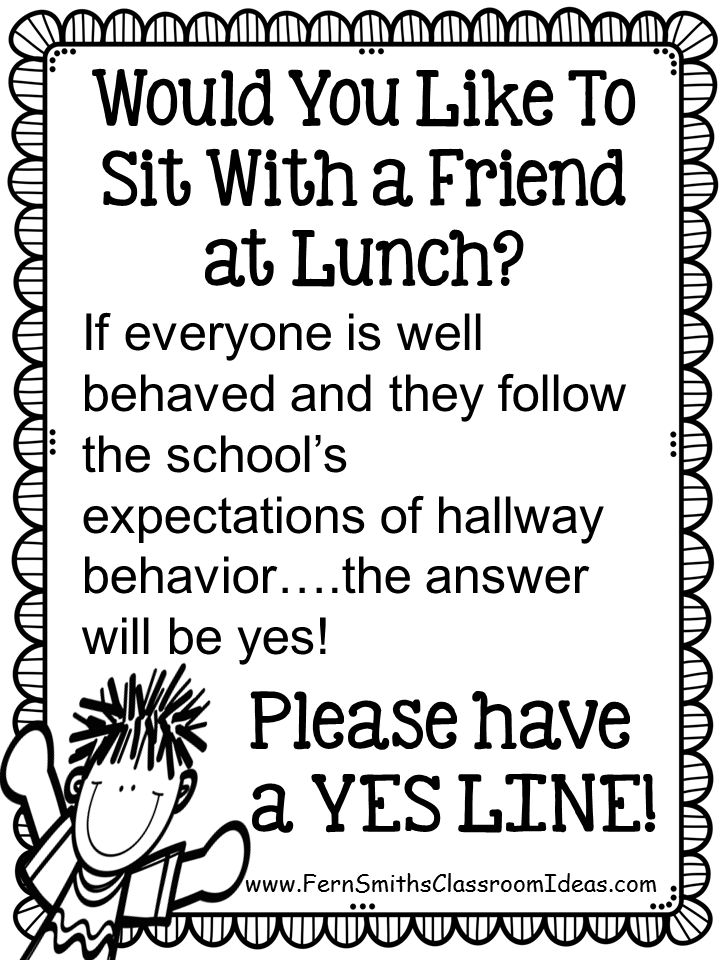 Fern Smith's Classroom Ideas FREE Poster for Transitions with a Yes Line at Classroom Freebies!