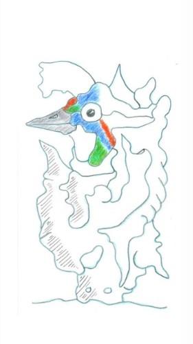 Jean-Marc Scanreigh, dessin pour TES PRAIRIES TANT ET PLUS de Joël CORNUAULT