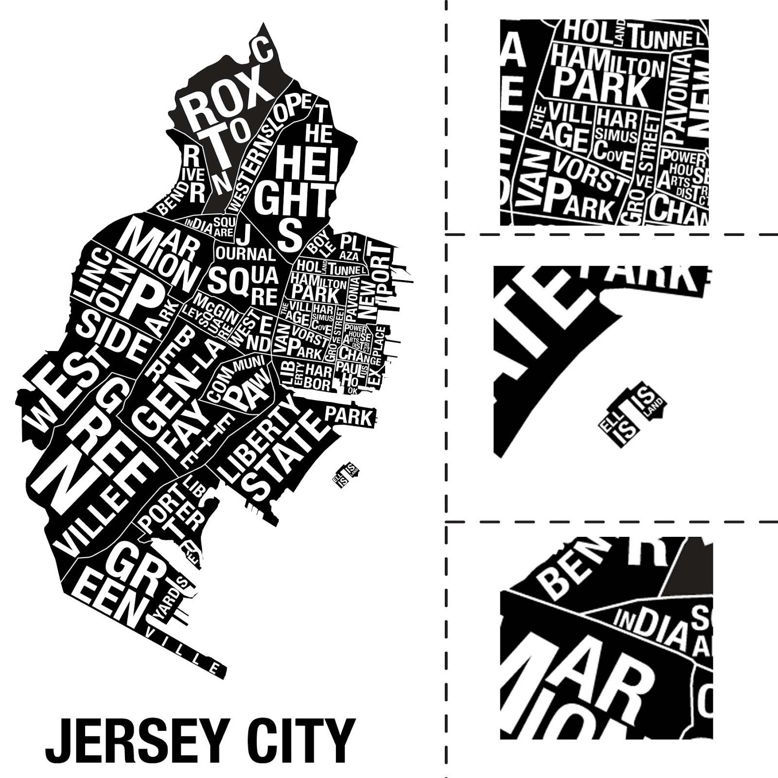 jersey city neighborhood map