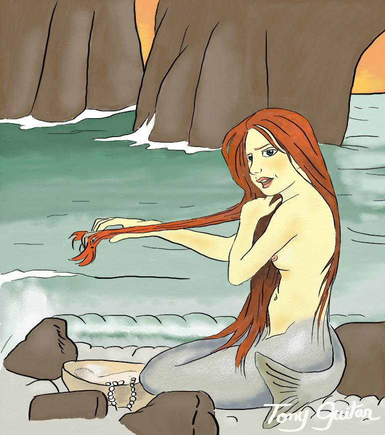 Sirène-Tony Guitar-mermaid-Waterhouse