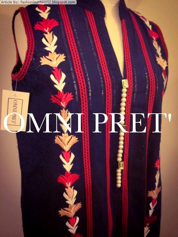 Omni Pret Embroidered Shirts And Kurta Collection 2014 Eid Dresses