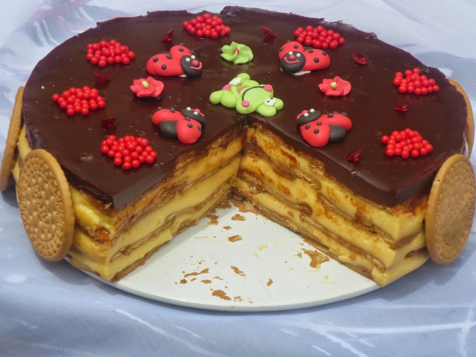Tarta de galletas y flan Ana Sevilla con Thermomix