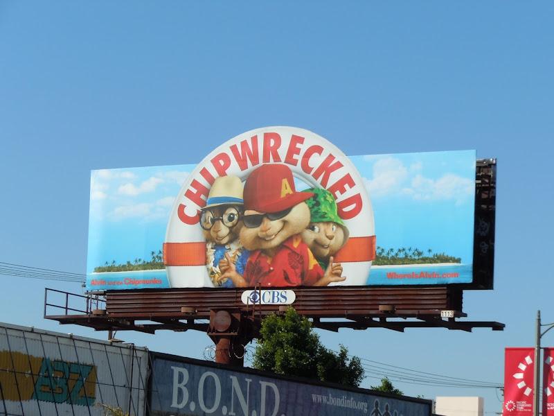 Chipwrecked movie billboard
