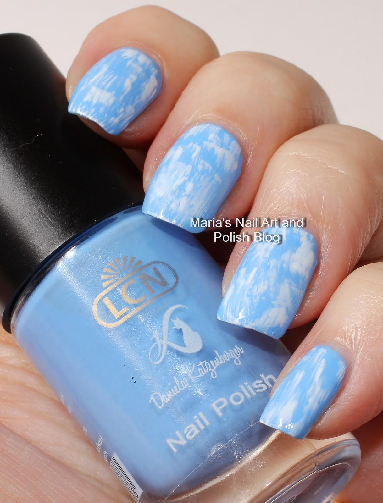 Marias Nail Art And Polish Blog Dry Brush Stroke Summer Clouds Nail
