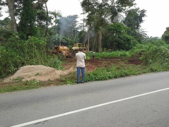 Ekiti state clear land for Airport in Aso Ayegunle Village of Ado Ekiti. pic 1