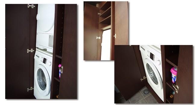 Muebles para su lavadora y secadora a medida for Mueble para lavadora y secadora