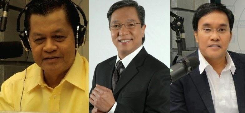 Noli De Castro, Ted Failon, Gerry Baja