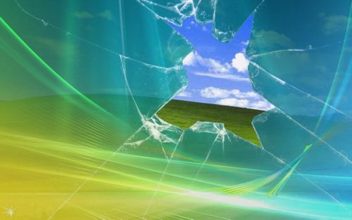 windows xp breaking glass wallpapers windows xp high color zone