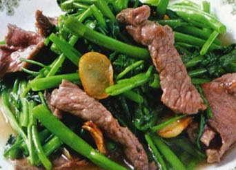 Bí quyết làm món thịt trâu xào rau muống ngon