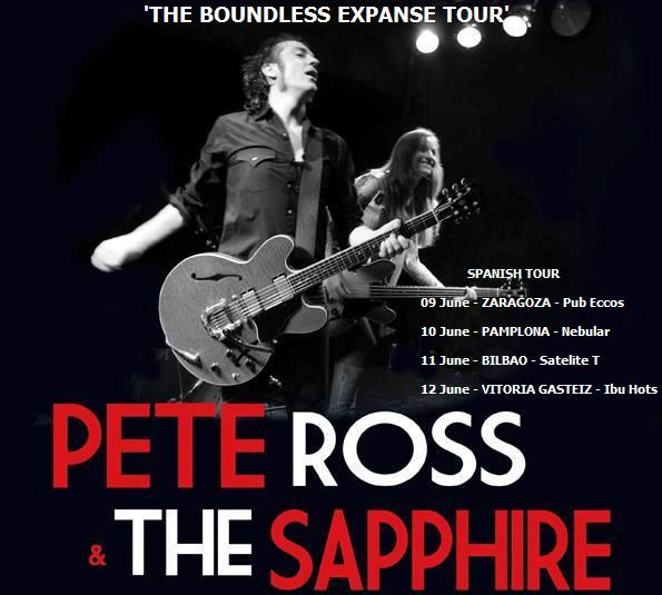 PETE ROSS & THE SAPPHIRE - Spanish Tour - Junio 2015