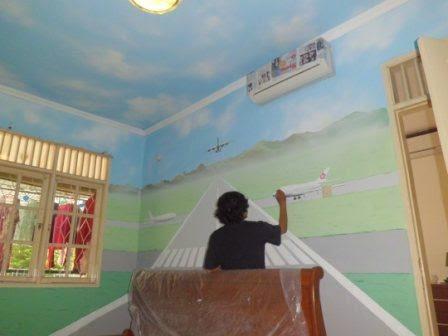 Jasa Lukis dinding kamar anak