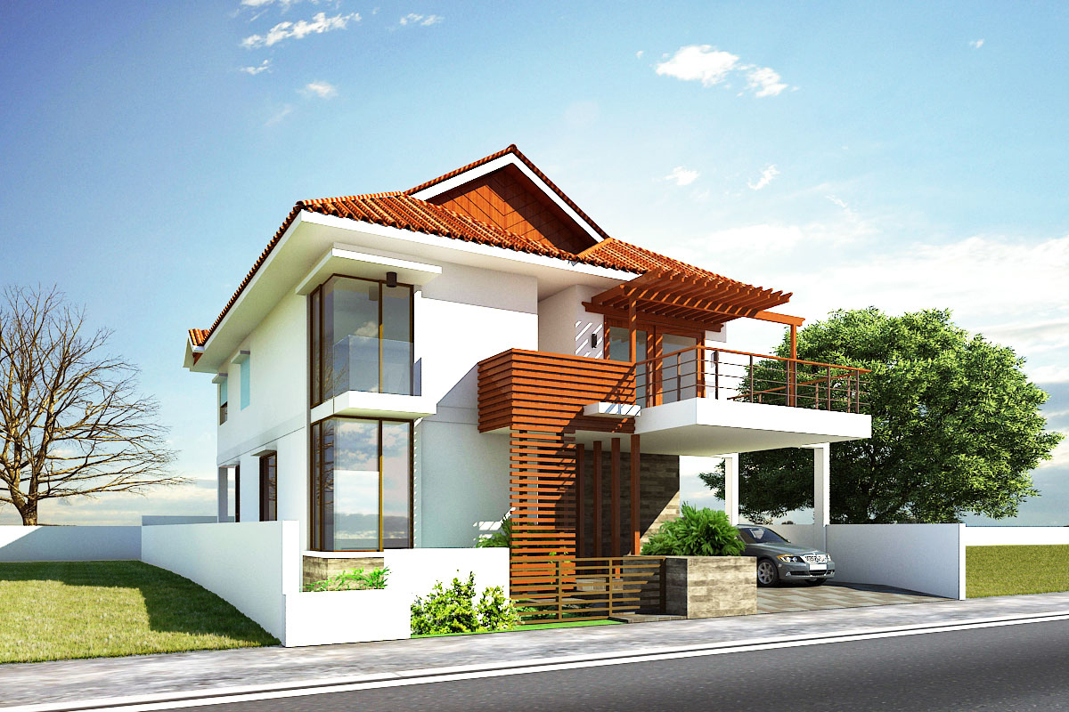 Home decoration ideas modern house exterior front designs for Front house ideas