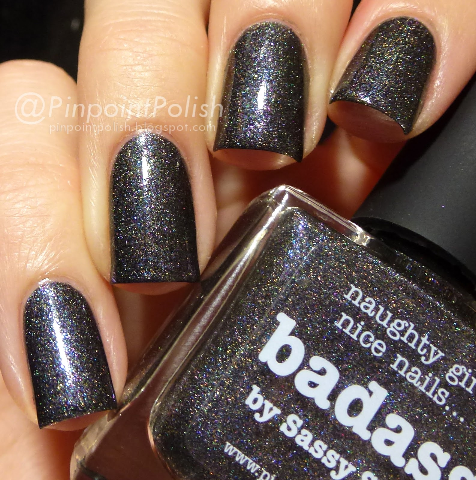 Badass, picture polish, swatch