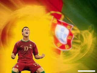 C.Ronaldo and Portugal Flag