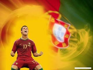 C.Ronaldo and Portugal Flag