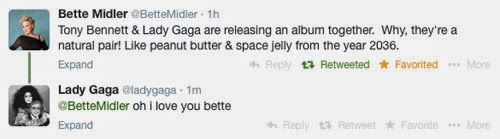 Bette Midler and Lady Gaga get a bit catty on Twitter
