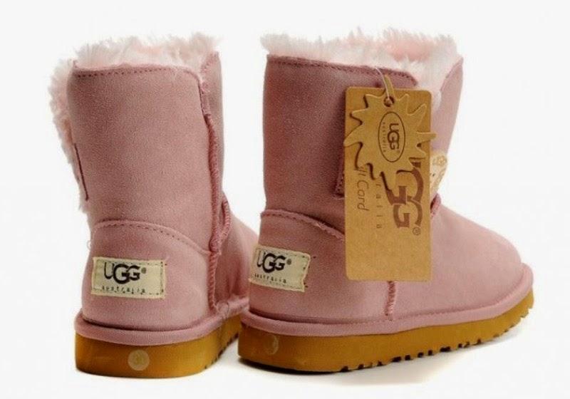 Sepatu boot untuk anak model baru pink replica