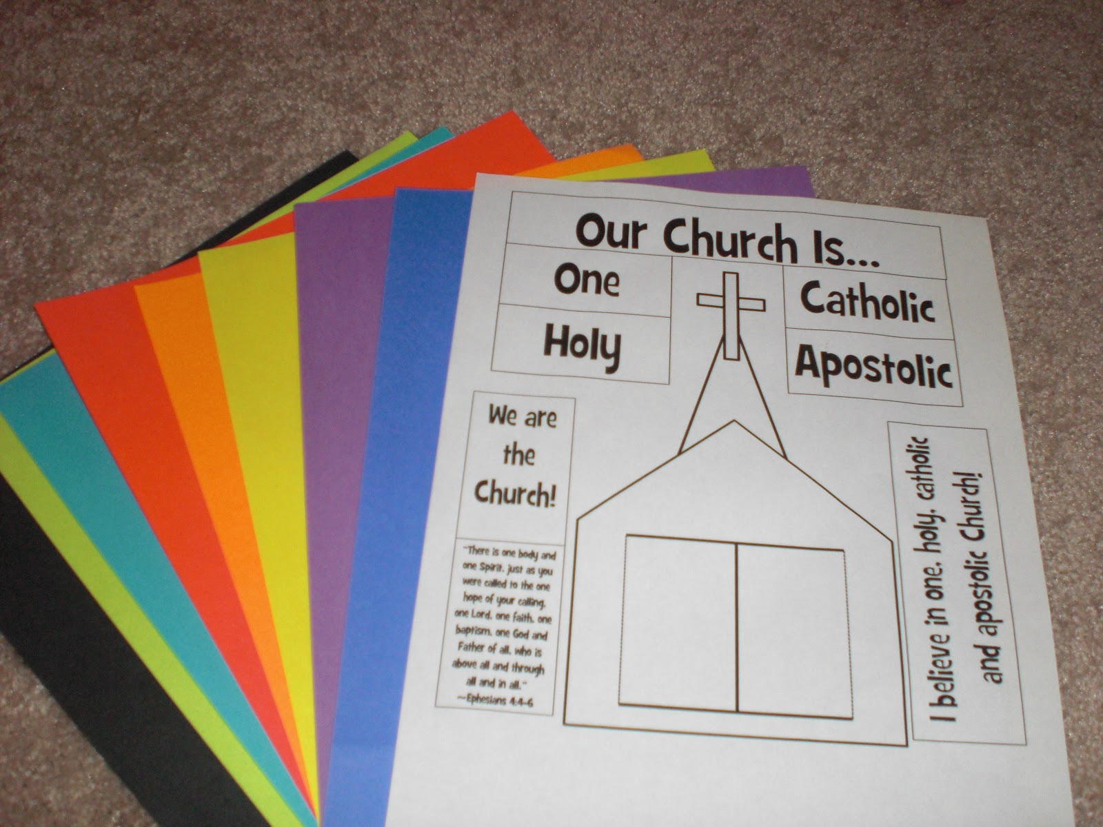 Look to him and be radiant we are the church craft for Crafts for children s church