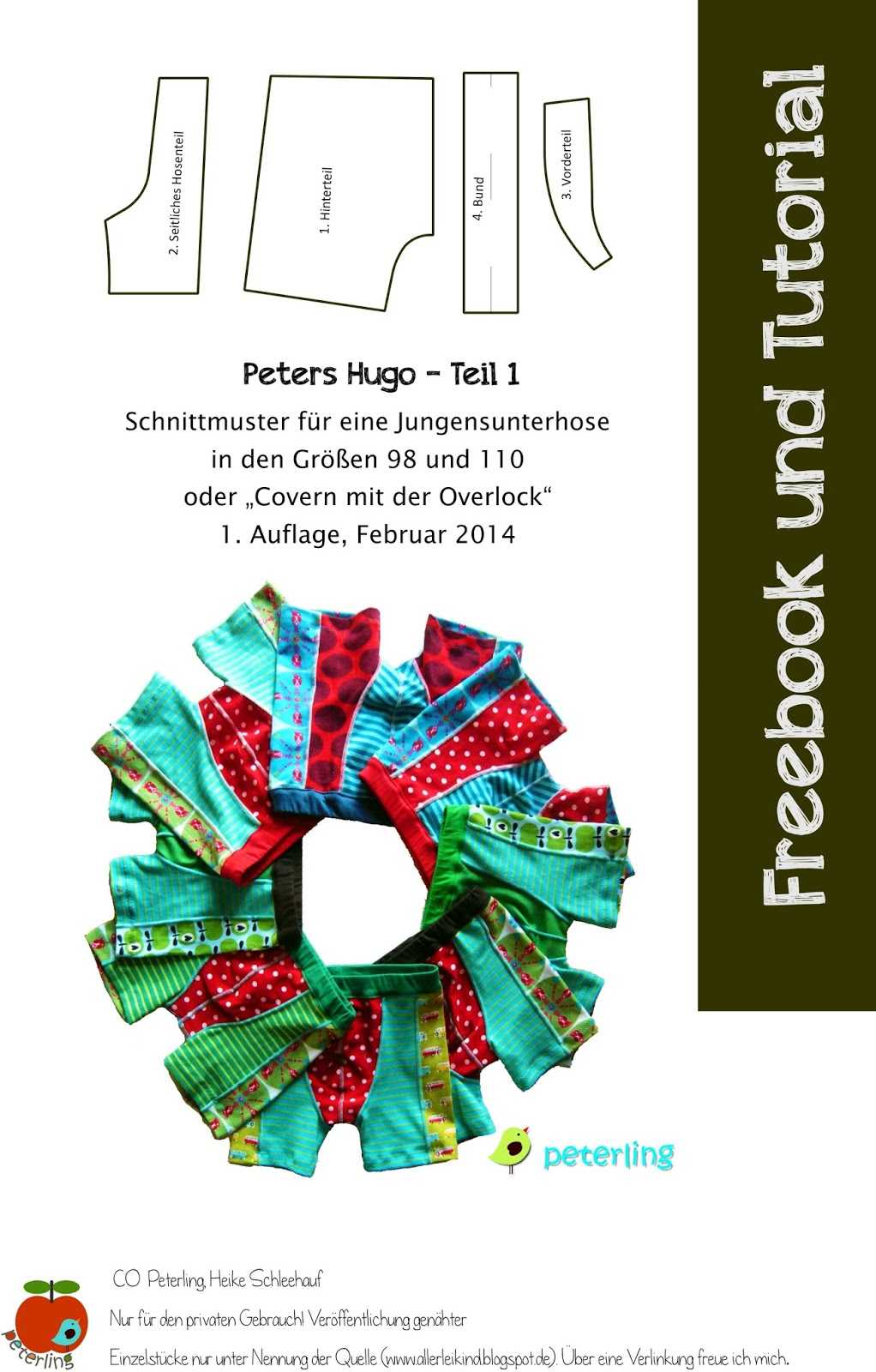 Peterling - Allerlei Kind: Heute gibt\'s ein Freebook, Tutorial ...