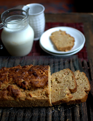 apple-ginger-honey spiced cake | a whole wheat cake that is nutty without nuts...