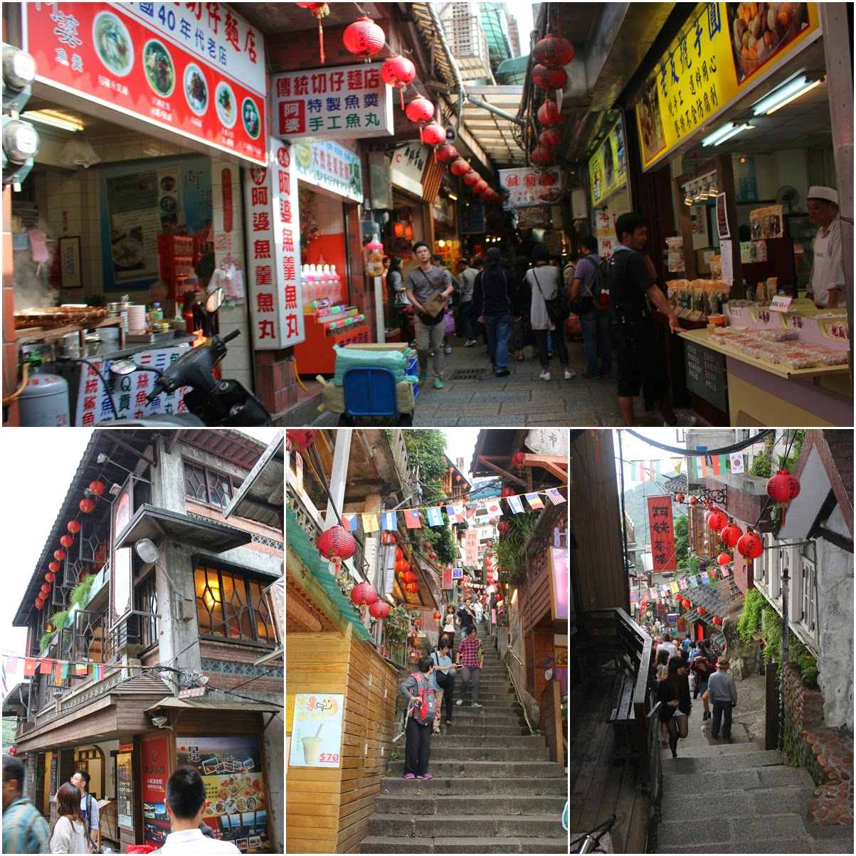 The unique architecture of Jiufen Old Street has become an inspiration for the Japanese animated film Spirited Away in Taiwan