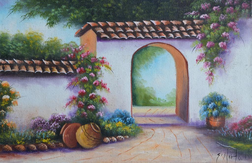 Cuadros modernos pinturas y dibujos paisajes f ciles de - Cuadros para pintar en casa ...