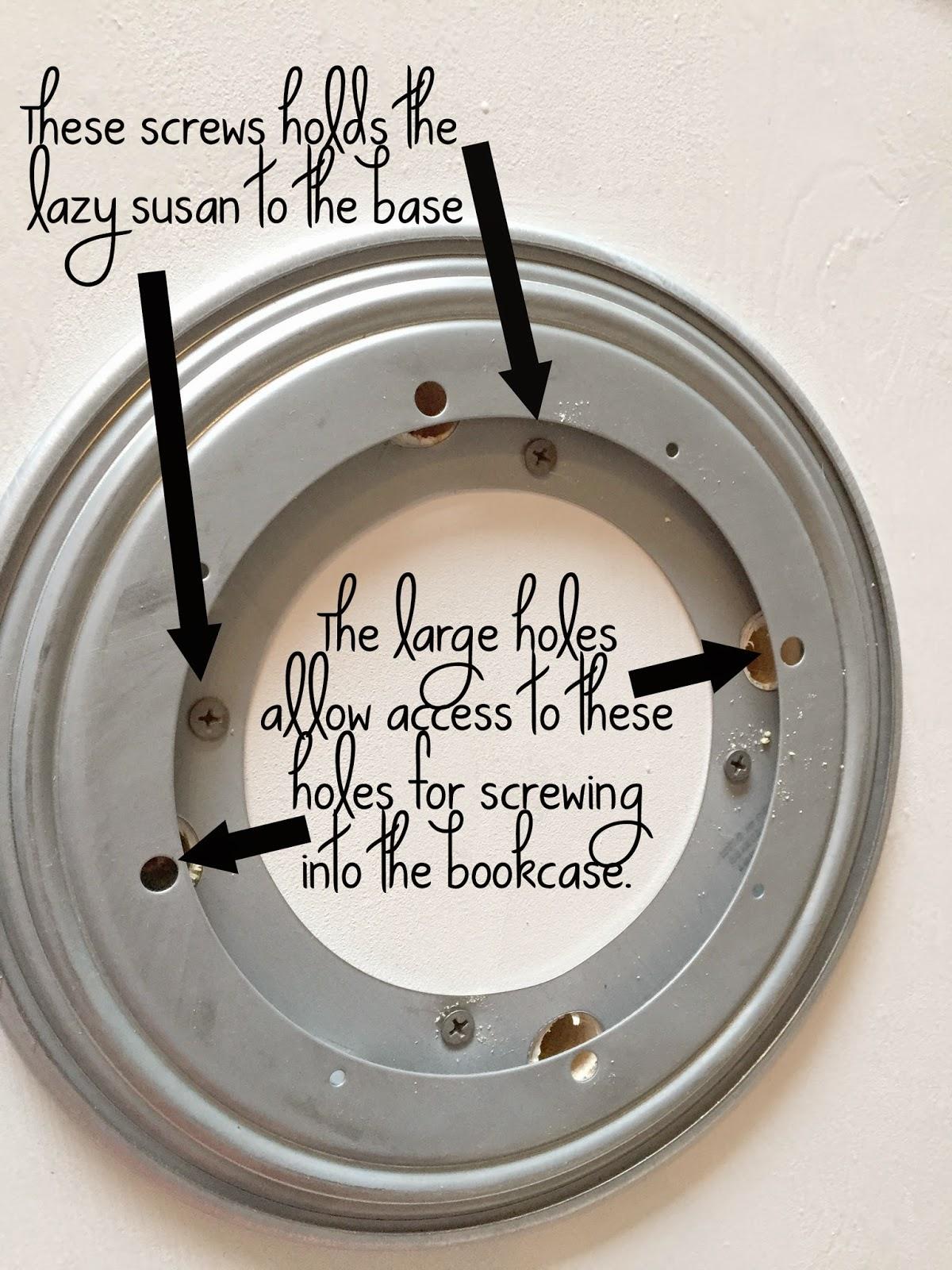 Naughton Your Life Lazy Susan Bookcase Ikea Hack