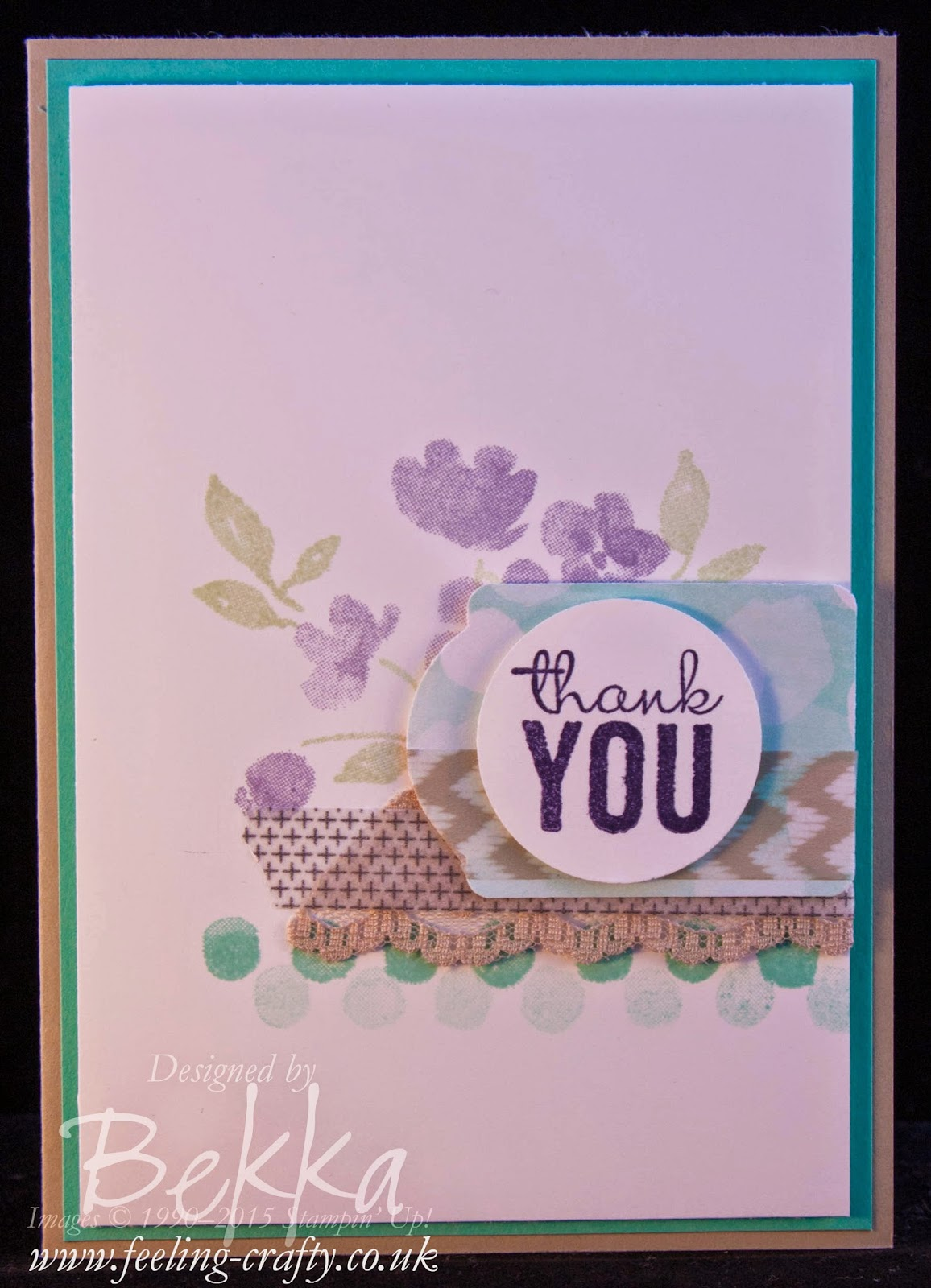 Painted Petals Thank You Card by Stampin' Up! UK Independent Demonstrator Bekka Prideaux - check out her blog here