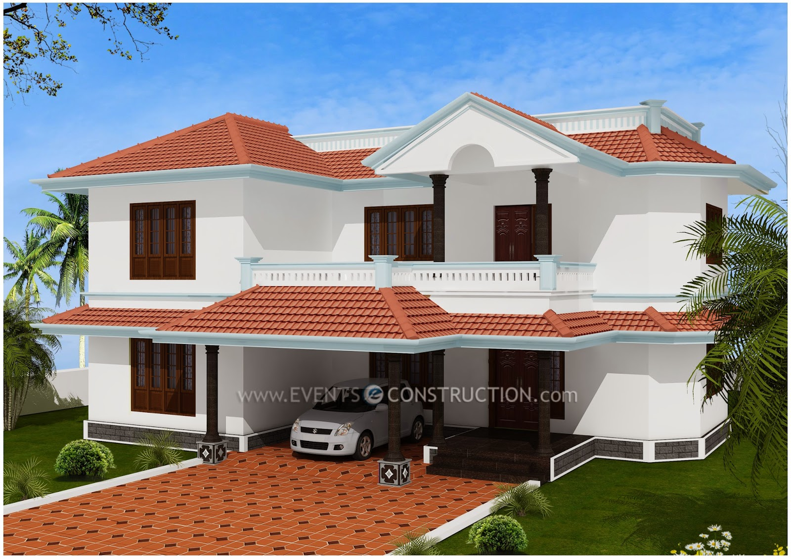 Evens construction pvt ltd simple kerala house design for Minimalist house kerala