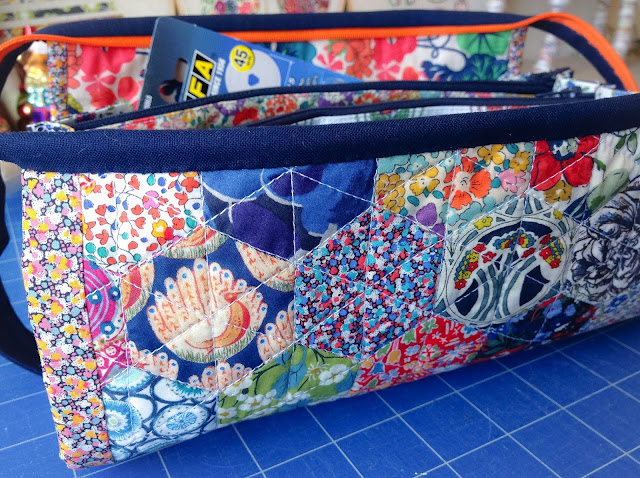 Side view of the sew together craft tool bag by sew demented