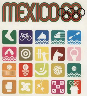 Mexico City, Summer Games, Olympic pictograms, Lance Wyman