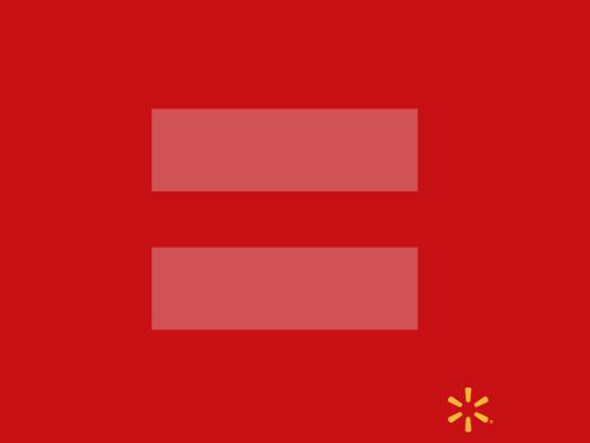 Walmart: Através do perfil no Facebook Mundo Walmart, o braço brasileiro da empresa manifestou-se 'O Walmart acredita que através da igualdade podemos Viver Melhor. E você? ;)'. A imagem a seguir ilustrou a frase. (Foto: Reprodução/Facebook)